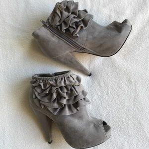 Charlotte Russe Open Toe Heels size 7